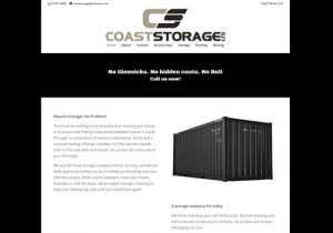 Coast Storage Pro Website