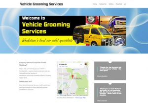 Vehicle Grooming Services Info Website