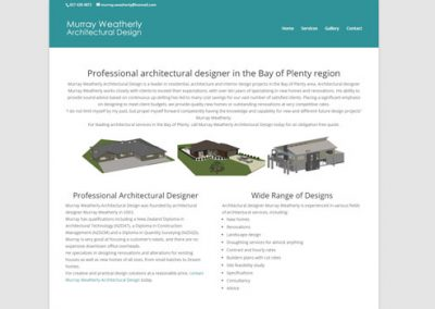 "Murray Weatherly Architectural Design <a href=""http://architecturaldesignbop.co.nz"">Visit Site</a>"