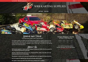 WRB Karting Supplies Info Website