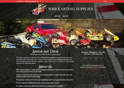 "WRB Karting<a href=""http://wrbkarting.nz"">Visit Site</a>"